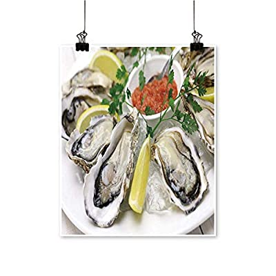 Canvas Wall Art Oysters plaate for Bathroom Home (Frameless)