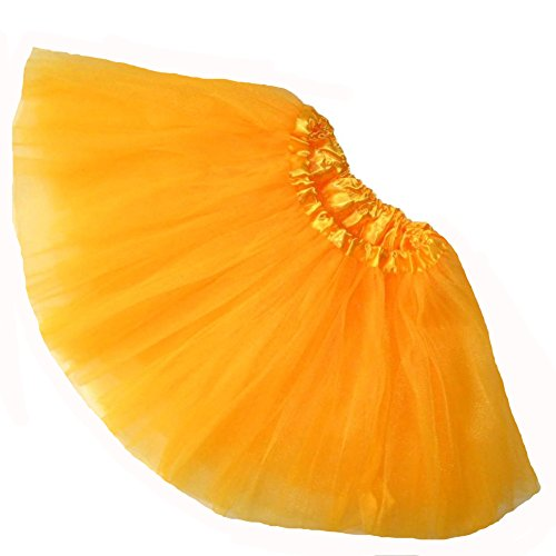 Southern Wrag Company Girls Ballet Tutu Waist 16-32 Length 11-12 (Neon Orange - Light)