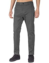 THE AWOKEN Men's Chino Casual Flat Front Pant Business Wear