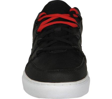 Lugz Mens Pronto Lo Sneaker Nero / Bianco / Rosso Fuoco