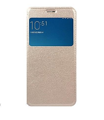 more photos c2ca6 8fde2 DESIGNERZ HUB FLIP Cover for Lenovo PHAB 2 Plus Gold