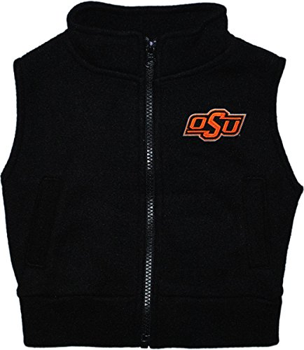 Oklahoma State University OSU Cowboys Baby and Toddler Polar Fleece Vest Black