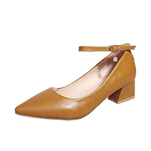 Graisse Une Chaussures Marron Pointue Femmes de la pour avec avec yalanshop Les Pointe 39 Chaussures Quatre d'aide Célibataires Faible Les Chaussures Saisons CwXqtan