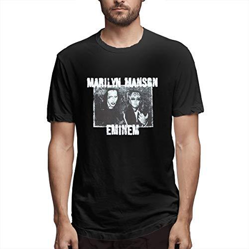Advgbnnmyjerf Manson Eminem Vintage Photo Print Raptor T-Shirt Public 5XL Black (Eminem Smoking With The Best)