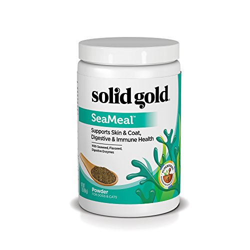 Solid Gold SeaMeal Kelp-Based Powder for Skin & Coat, Digestive & Immune Health in Dogs & Cats; Natural, Holistic Grain-Free Supplement; 1 (Dog Spot Pet Kennels)