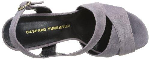 Gaspard Yurkievich Sandal S27 - Sandalias de ante para mujer, color amarillo, talla 36 Rosa (Rose (Var20))