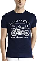 Adro Men's Round Neck T-Shirt Rname_Navy_S-NOR