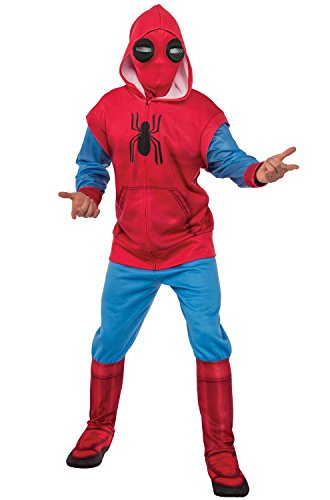 Spider Man Suit (Rubie's Men's Adult Spider-Man: Homecoming Deluxe Sweats Costume, As/Shown, Extra)