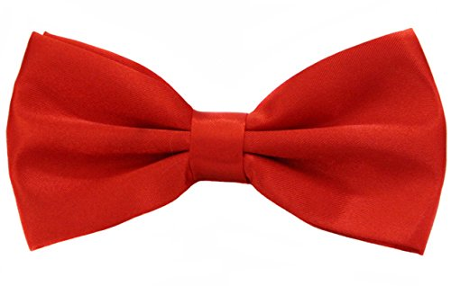 Soophen Pre Tied Mens Adjustable Bow Tie Red Orange -