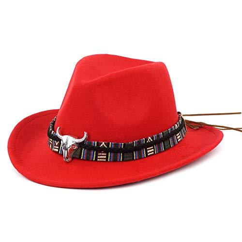 (Western Cowboy Hat-Wool Fedora Felt Hats Men Women Crushable Brim Trilby)