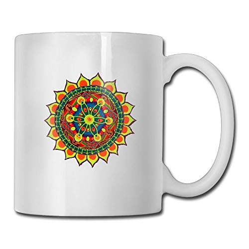 (Funny Quotes Mug With Sayings - Windmill Crop Circle Blacklight Flower Of Life - Gift Idea Coff Mug Ceramic White 11)