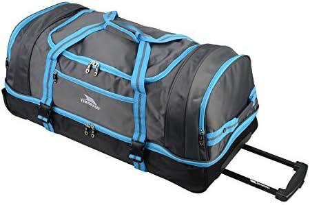 6efe6a3be3 Trespass Galaxy Rolling Duffle Sac de voyage à roulettes/sac de sport Bleu  bleu 80 cm