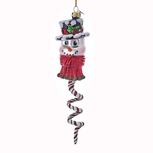 (Kurt Adler Kurt S. Adler Noble Gems Snowman Spiral Glass Ornament)