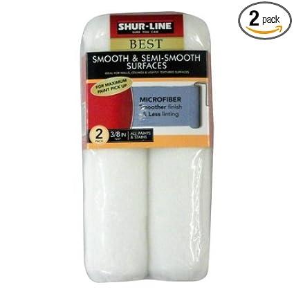 2-Pack Shur-Line Best 3//8 Microfiber Roller Cover