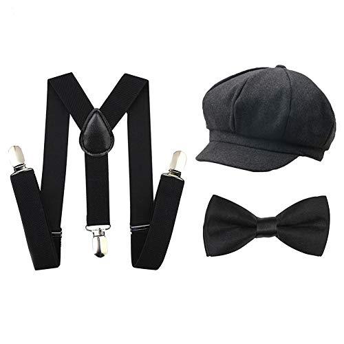 Icevog Kids Suspenders and Bow Tie Set 1920s
