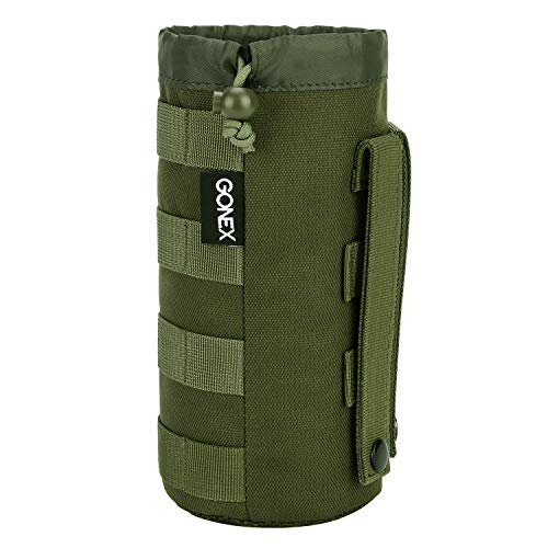 Gonex Tactical Military MOLLE Water Bottle Pouch Green