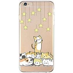 Get-in Carcasa de Silicona para iPhone 4, 4S, 5, 5S, 6, 6 Plus, 7, 8 Plus, diseño de Flores de Gato, for iPhone 5 5se, B310