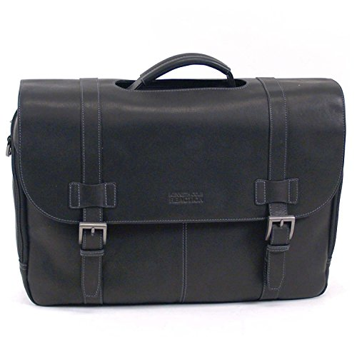 Kenneth Cole Reaction Columbian Leather Portfolio, Briefcase Black
