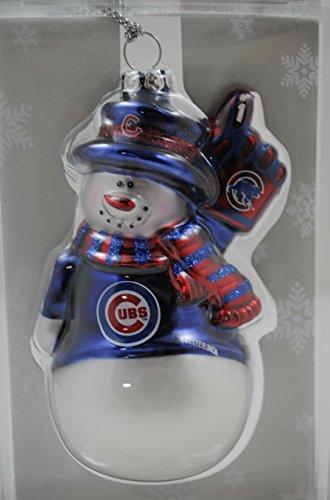 MLB Chicago Cubs Glitter Snowman Ornament