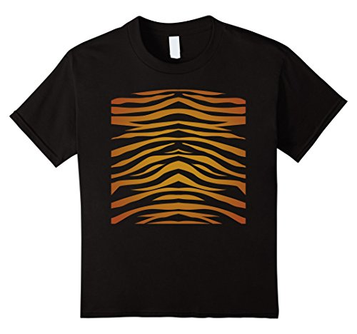 Child Tiger Costume At Zoo (Kids Easy Halloween Tiger Costume Shirt for Zoo Lovers 12 Black)