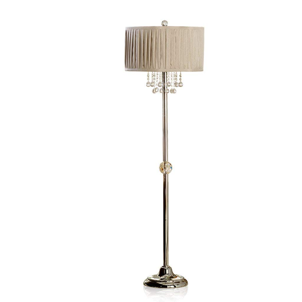 AME Tischlampe Europäischen Moderne Luxus Boden Kristall Tischlampe Schlafzimmer Schlafzimmer Schlafzimmer Studie Wohnzimmer LED-Licht, Weiß, H155Cm  W46Cm B07JB2ZRGC | Mode-Muster  fda2bb