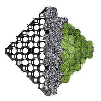 Gris Plástico TrueGrid terminadoras para hierba o grava – zonas de coche o caminar – 2 m² – 8 x Grids – True Products: Amazon.es: Jardín