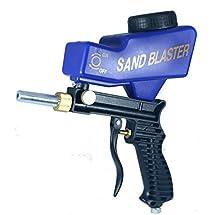 Sandblaster Portable Sand Blasting Nozzle Gun, Gravity Feed Sandblast Gun, Speed Blaster with Extra Tip