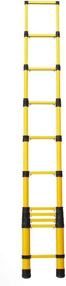 Escaleras Telescópicas Multifunción 5m extra alto escalera telescópica con Anti Pinch la protección del dedo, Escalera de servicio pesado de fibra de vidrio de Extensión Por Loft bricolaje, 330lbs Cap: Amazon.es: Hogar