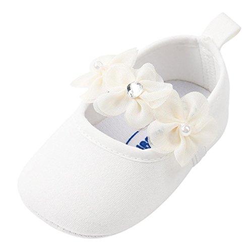 bobo4818 Neugeborenes Baby Mädchen Flower Princess Schuhe Weiche Sohle Anti-Rutsch Turnschuhe Size:13