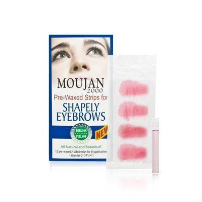 Moujan 2000 Pre-Waxed Strips for Shapely Eyebrows 12 Applications