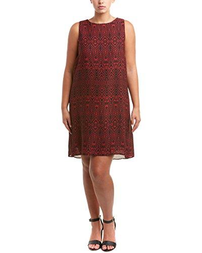 BB-Dakota-Womens-Plus-Size-Mali-Print-Mock-Neck-Dress