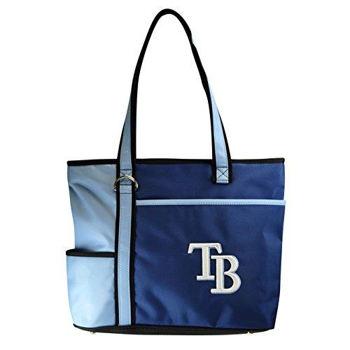 Charm14 MLB Tampa Bay Rays Tote Bag with Embroidered Logo