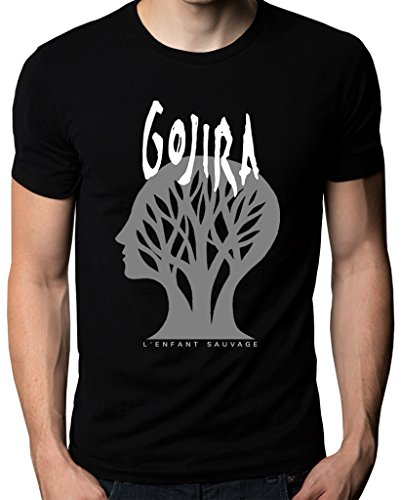 Gojira L'Enfant Sauvage Godzilla Metal Band Logo Men's T-Shirt Small Black