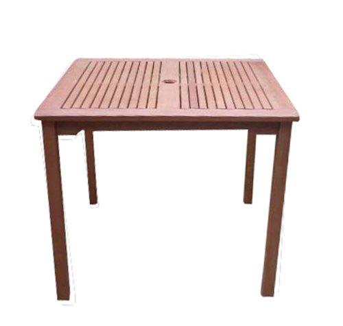 VIFAH V1104 Ibiza Outdoor Wood Stacking Table, Natural Wood Finish, 35-1/2 by 35.4 by (Outdoor Stacking Table)