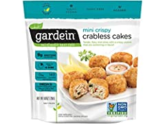Gardein Mini Crabless Cakes, 8.8 Ounce -- 8 per case. These golden crispy mini crabless cakes are swimming with flavor and are made for sharing. Come out of your shell and try a taste of the ocean Vegan, Dairy Free