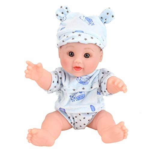 - TUSALMO 12 inch Vinyl Newborn Baby Dolls for Children's and Granddaughters Holiday Birthday Gift, Lifelike Reborn Washable Silicone Doll, Reborn Baby Doll. (Blue)