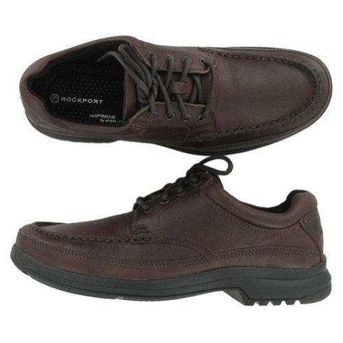 Rockport Men's Banni Moc-Toe Dark Tan-10 M-10  M (Toe Moc Rockport)