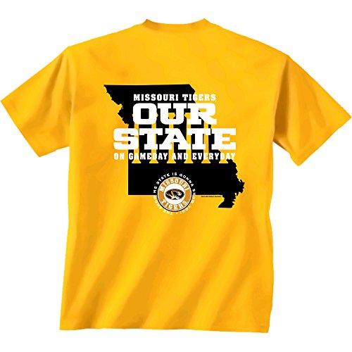Missouri State Football (NCAA Missouri Tigers Our State Short Sleeve T-Shirt, XX-Large,)
