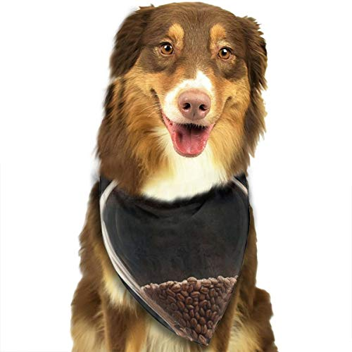 Pet Scarf Dog Bandana Bibs Triangle Head Scarfs Coffee Bean Hourglass Accessories for Cats Baby Puppy -