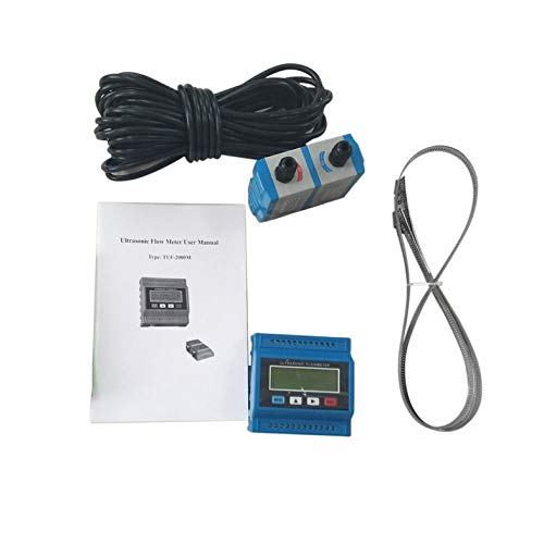 CloverUS TUF-2000M TM-1 Portable Digital Ultrasonic Flowmeter Flow Meter Tester Heat Water Flow Meter with RS-232 Output Easy - Flow Portable Ultrasonic Meter