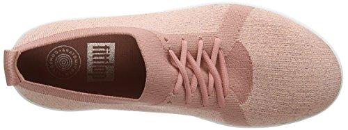 EU Metallic F Sporty Pink Sneakers 5 612 36 Charbon Pink Uberknit Baskets Femme FitFlop Dusky Metallic 1TfBxx