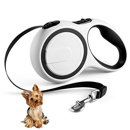 Retractable Dog Leash Dog Leash for Small Dogs with Comfortable Hand Grip, Tangle Free Dog Retractable Puppy Leash One Button Brake & Lock 16ft Strong Nylon Ribbon