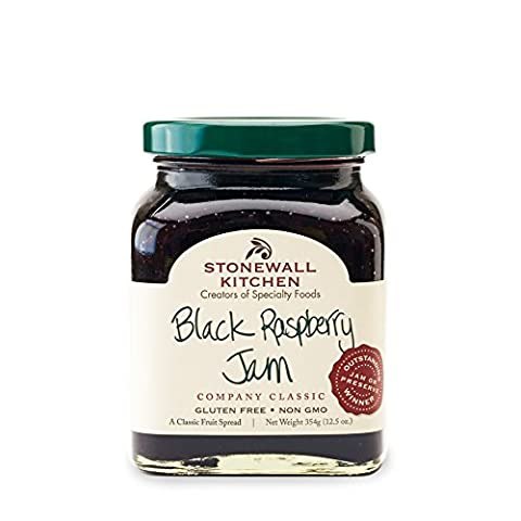 Stonewall Kitchen Gluten-free, Black Raspberry Jam, 12.5 Ounces - Pantry Raspberry