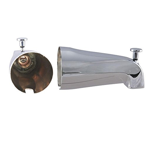 Westbrass E531D-1F 5-1/4-Inch Front Diverter Tub Spout with Front Connection, - Connection Chrome
