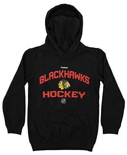 - Reebok NHL Youth (8-20) Chicago Blackhawks Fleece Pullover Hoodie, Black Medium (10-12)