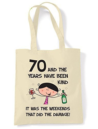 The Años Have Estado Kind Mujer 70th Regalo Cumpleaños Bolso ...