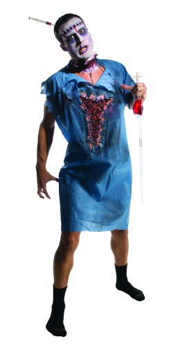 Thriller Costumes Zombies (Rubie's Costume Zombie Patient Costume, Blue, Standard)