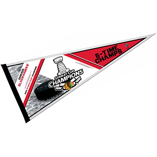 """NHL 2015 Stanley Cup Champion Pennant, 12 x 30"""", Black"""