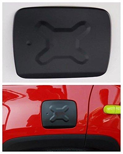 Gas Tank Trim - Dwindish Black Aluminum Filler Door Trims Exterior Covers Gas Fuel Tank Cap For Jeep Renegade 15 Up