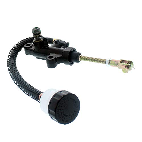NICHE Rear Master Cylinder Brake Assembly with Replacement Cap for 1987-2001 Yamaha Warrior 350